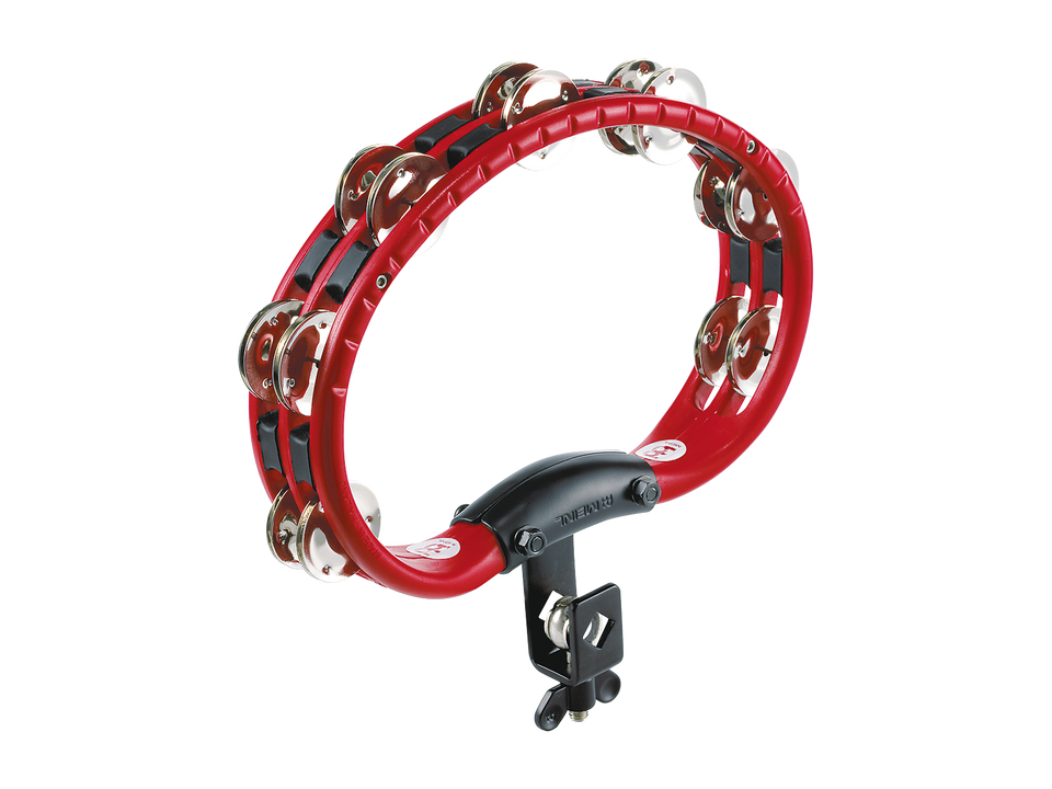 Meinl TMT2R Mountable Traditional ABS Tambourine Steel Jingles 2 Rows