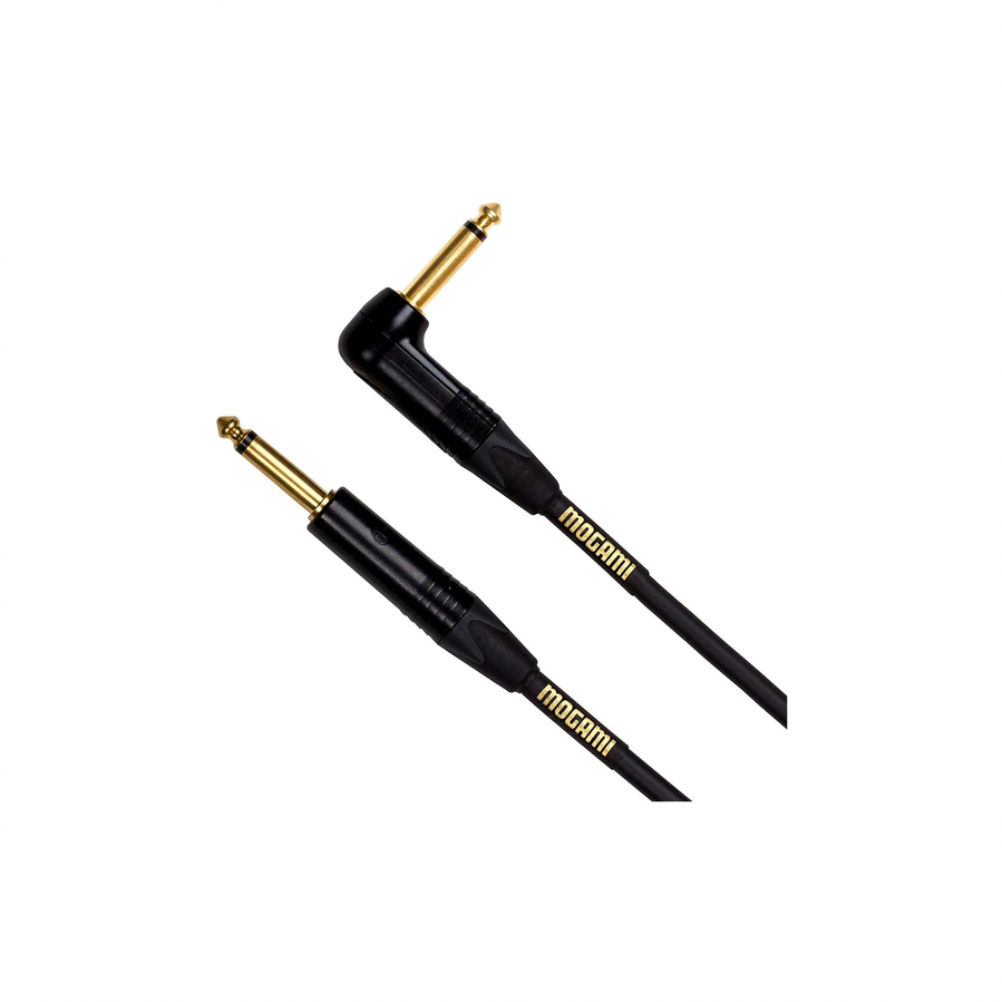 Mogami Gold instrument-03R 3' Gold Instument Right Angle Cable
