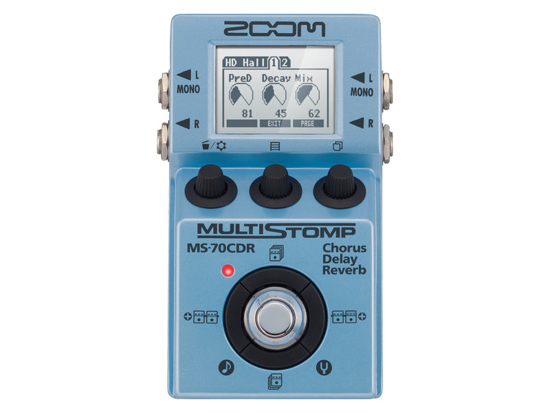 Zoom MS70CDR Multistomp Pedal - Chorus/Delay/Reverb