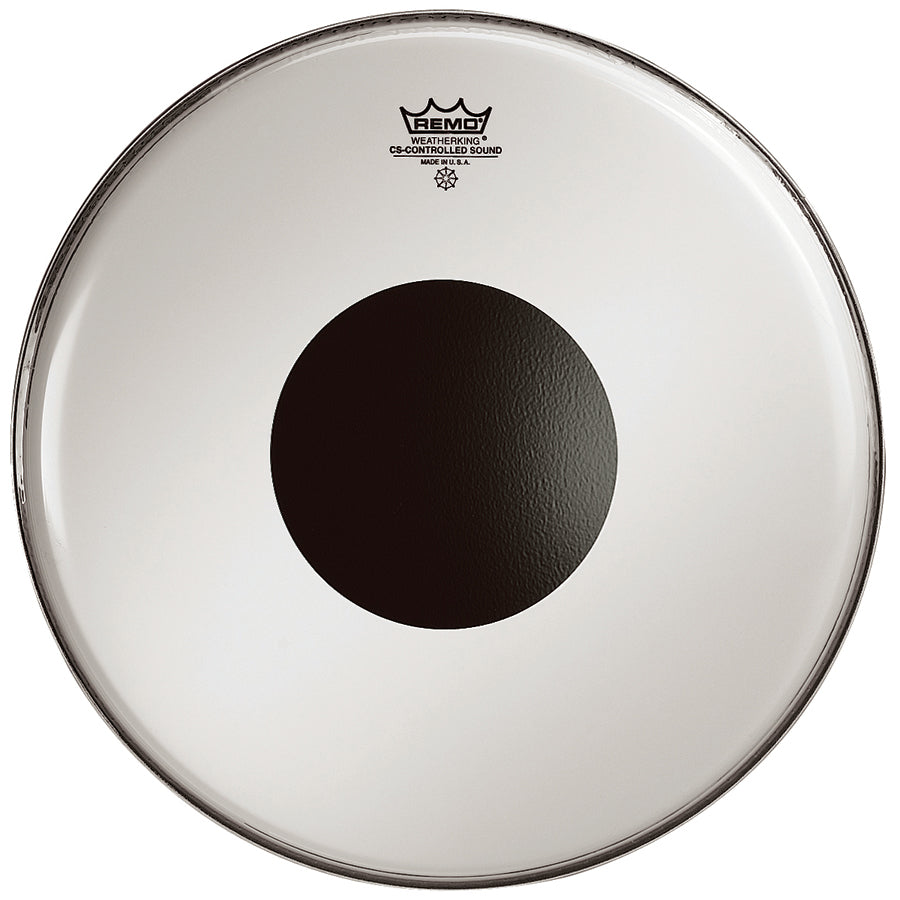 Remo Controlled Sound Coated Black Dot Drum Heads