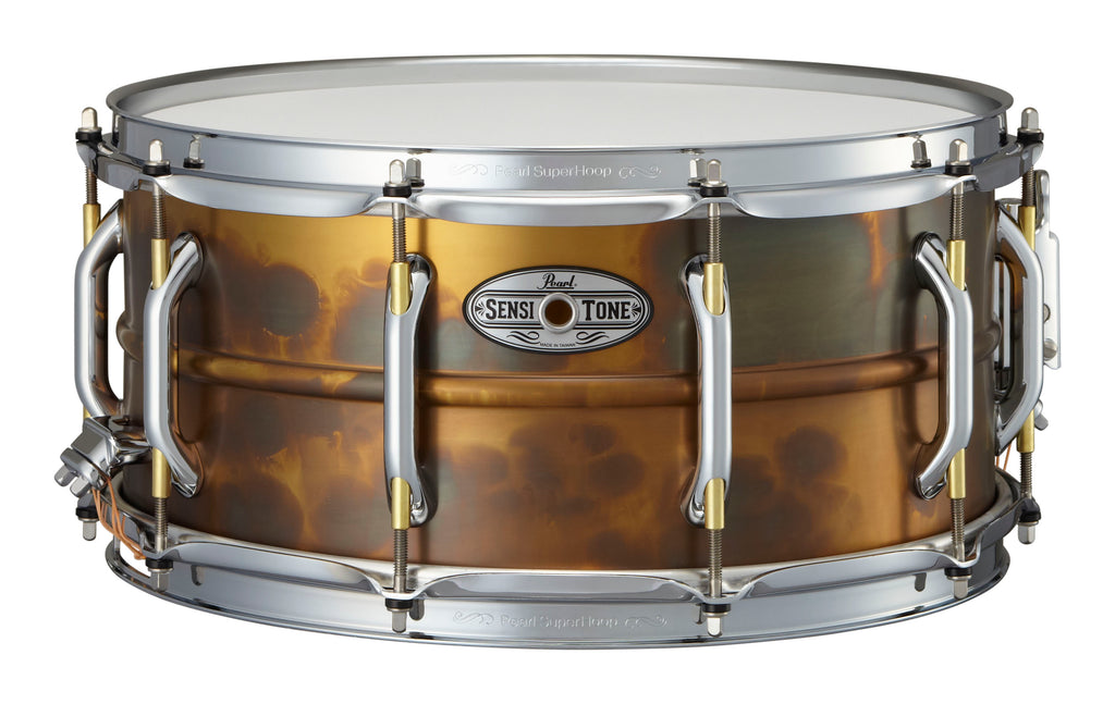 "Pearl 14"" x 6.5"" SensiTone Premium Beaded Brass Snare Drum"