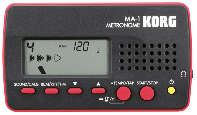 Korg MA-1 Visual Beat Counting Metronome - Red