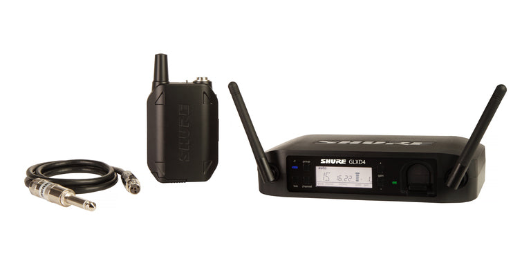 Shure GLXD14R Guitar Wireless System W/ WA302 Instrument Cable
