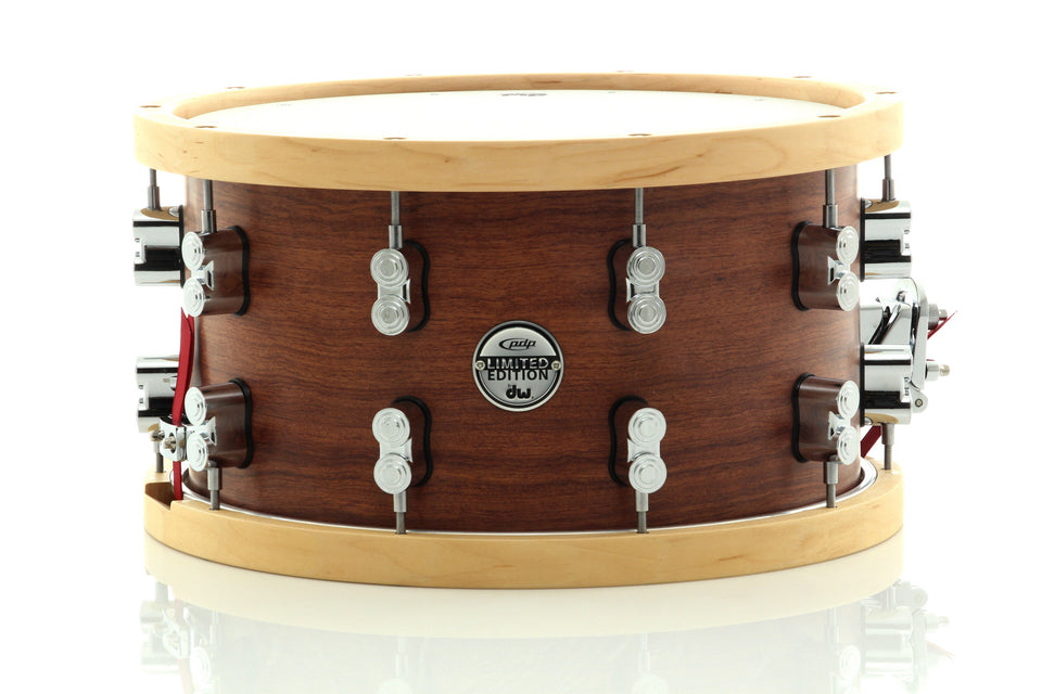 "PDP 14"" x 8"" SX Series 18-Ply Bubinga/Maple/Bubinga Snare Drum With Wood Hoops"