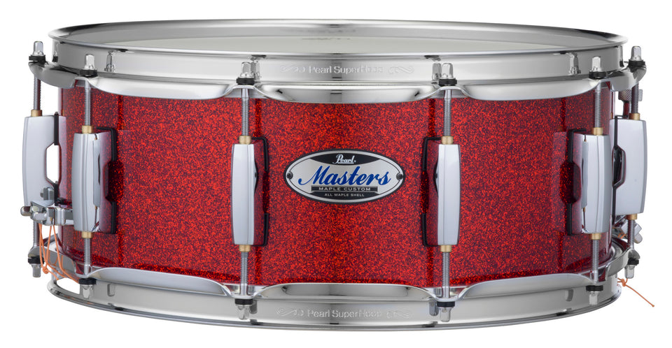 "Pearl 14"" x 5.5"" Masters Maple Complete MCT Snare Drum - Vermilion Sparkle"
