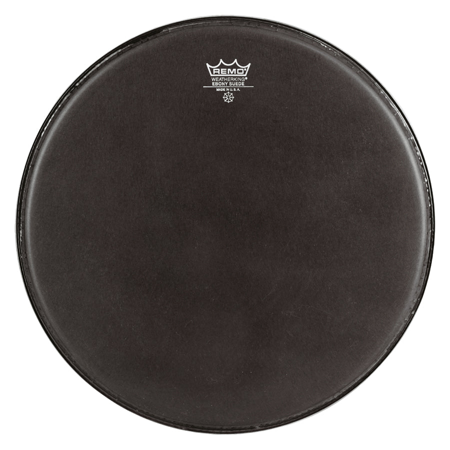 Remo Black Suede Crimplock Emperor Marching Drum Head