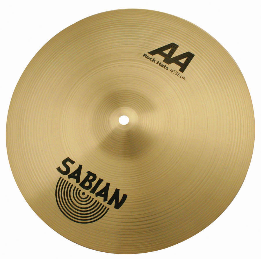 "Sabian 14"" AA Rock Hi-Hat Cymbals Brilliant Finish"