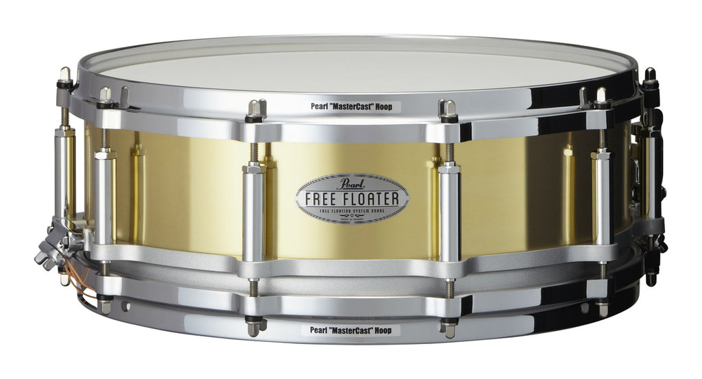 "Pearl 14"" x 5"" Brass Free Floating Snare Drum"
