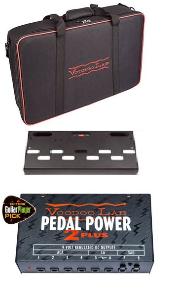 Voodoo Lab Dingbat Aluminium Pedalboard W/ Pedal Power 2 Plus - Small