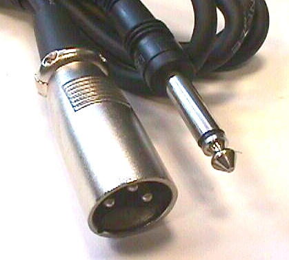 "Hosa PXM105 XLR M to 1/4"" TS, 5 Feet"