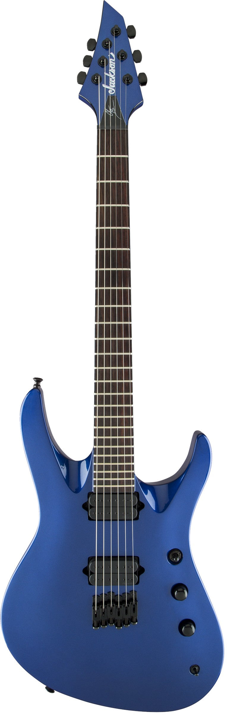Jackson Pro Series Signature Chris Broderick Soloist HT6 Electric Guitar, Rosewood Fingerboard, Metallic Blue