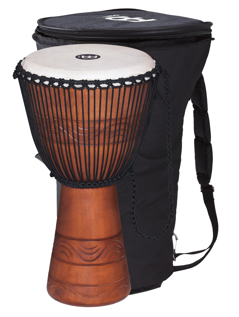 "Meinl ADJ2-L BAG Original African Style Rope Tuned Wood Djembe 12"" + Bag"