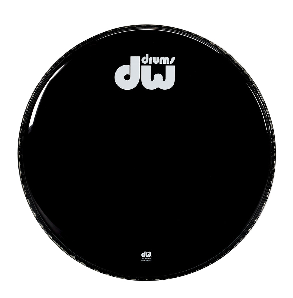 Drum Workshop 22-inch Non-Vented Bass Drum Head - Gloss Black