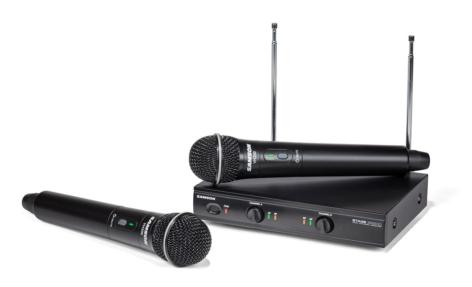 Samson Stage 200 Dual-Channel Handheld VHF Wireless System