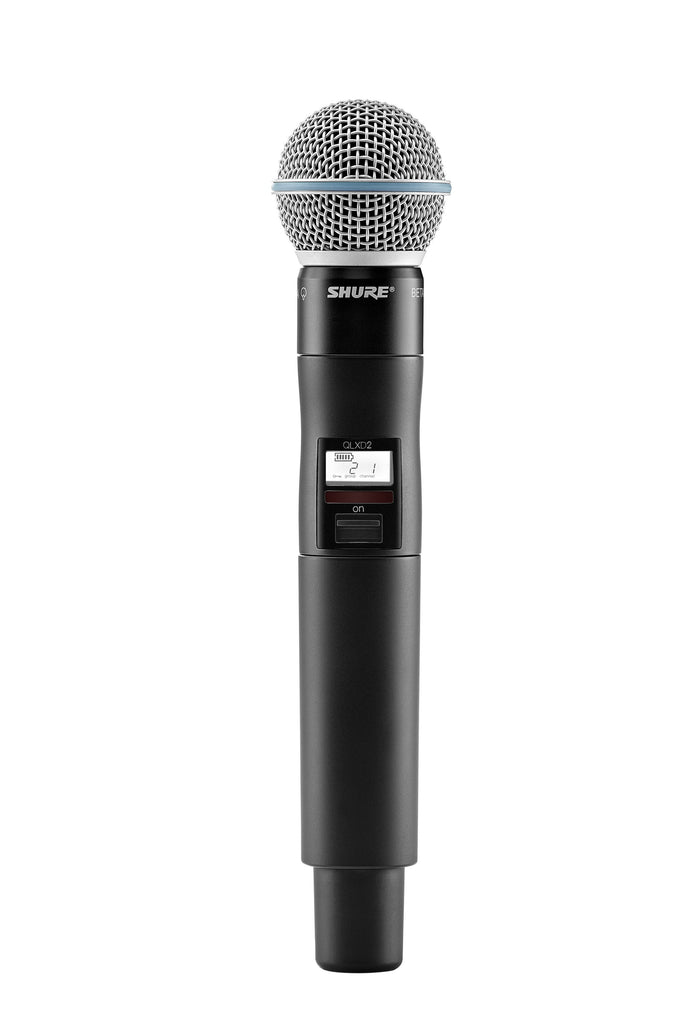 Shure QLXD2/BETA58A Digital Handheld Wireless Microphone Transmitter