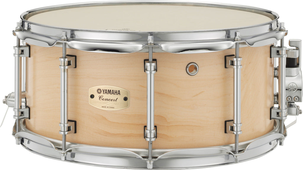 "Yamaha CSM-1465AII 14"" x 6.5"" Concert 8-Ply Maple Shell Snare Drum - Matte Natural"