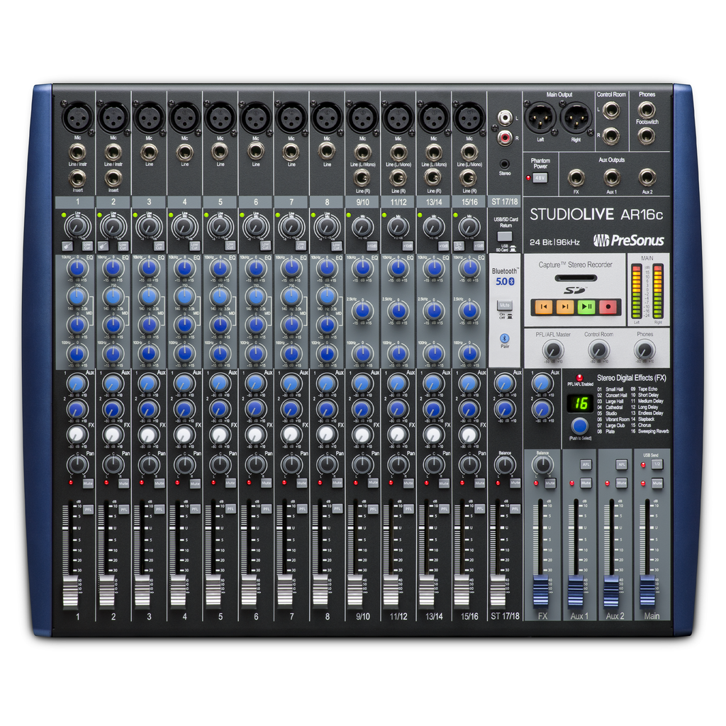 PreSonus StudioLive AR16c USBc 18-Channel Hybrid Mixer and Audio Interface