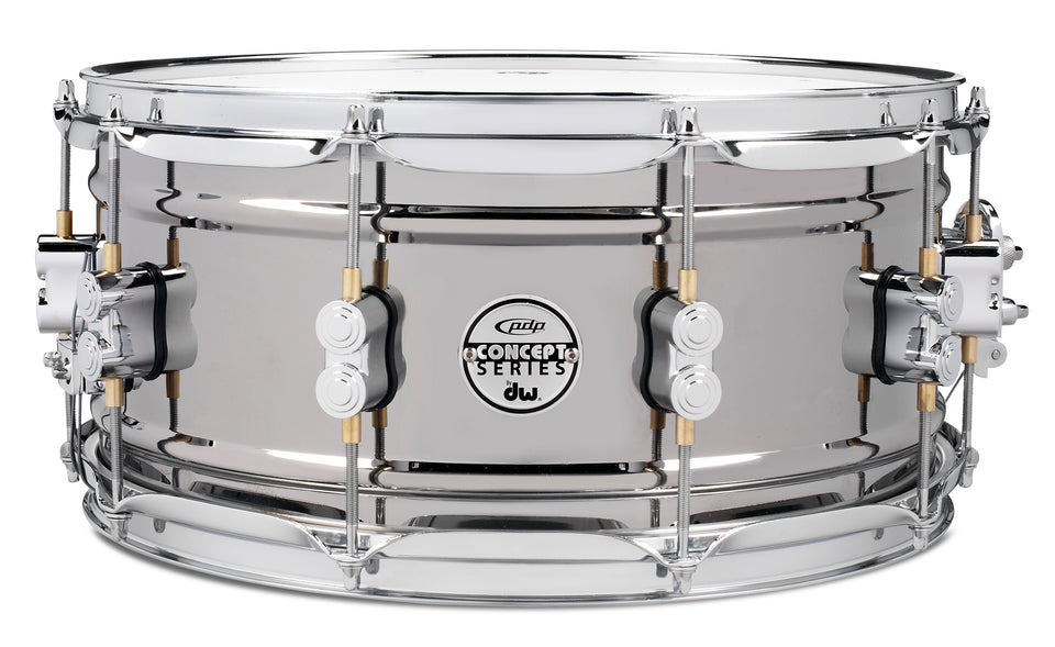 "PDP PDSN6514BNCR 14"" x 6.5"" Concept Series Snare Drum - Black Nickel Over Steel"
