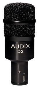Audix D2 Dynamic Instrument Mic with Mib-Bass Boost