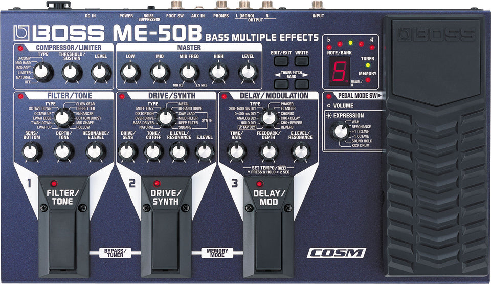 Boss ME-50B Bass Multiple Effects Pedal