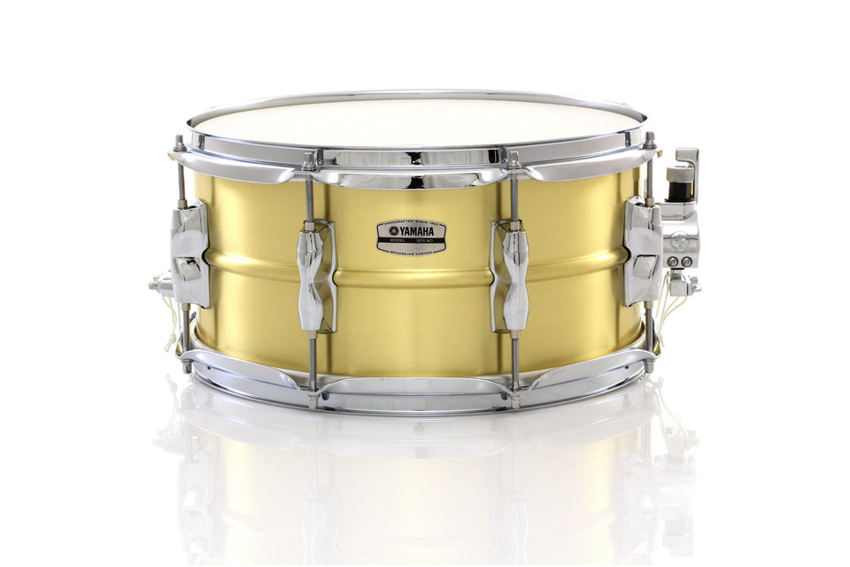 "Yamaha 13"" x 6.5"" Recording Custom Brass Snare Drum"