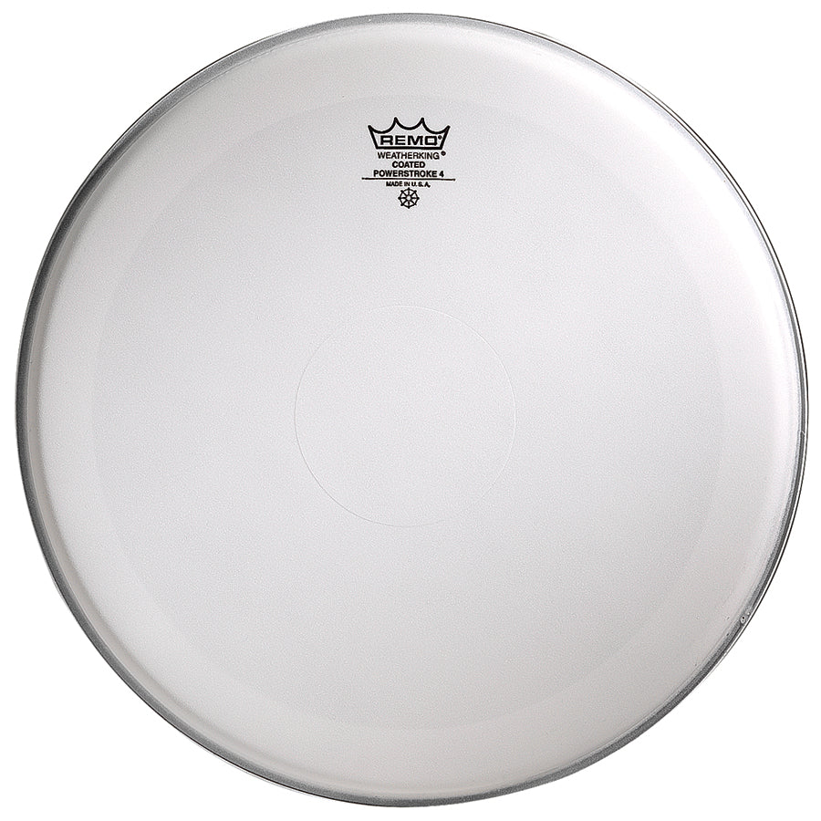 "Remo 16"" Coated Powerstroke 4 Drum Head With Clear Dot"