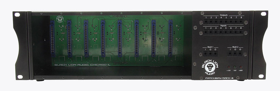 Black Lion PBR8 8 Slot 500 Series Rack / Patchbay