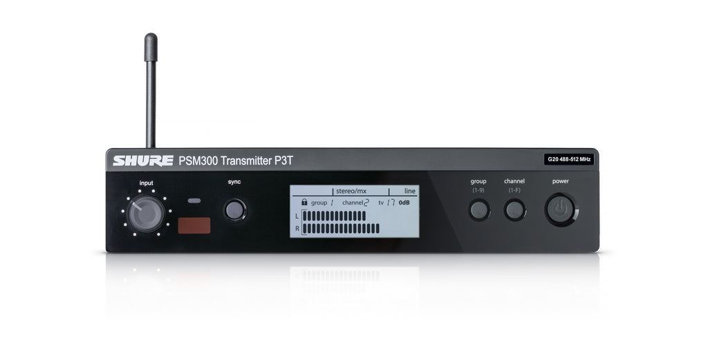 Shure P3T Half-Rack Single Channel Wireless Transmitter, G20 Band