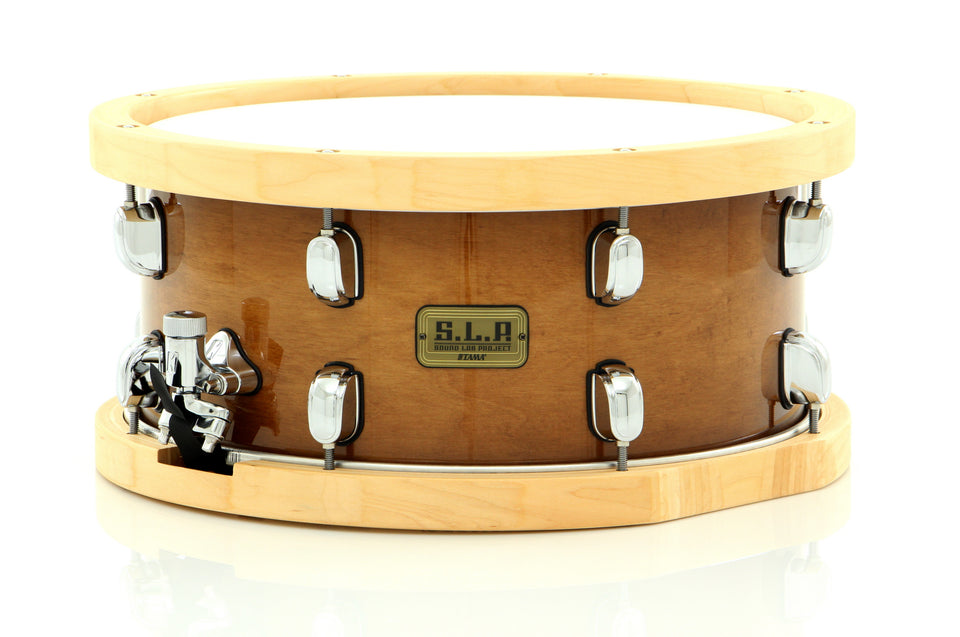 "Tama 14"" x 6.5"" Studio Maple S.L.P. Snare Drum Sienna Finish With Wood Hoops"