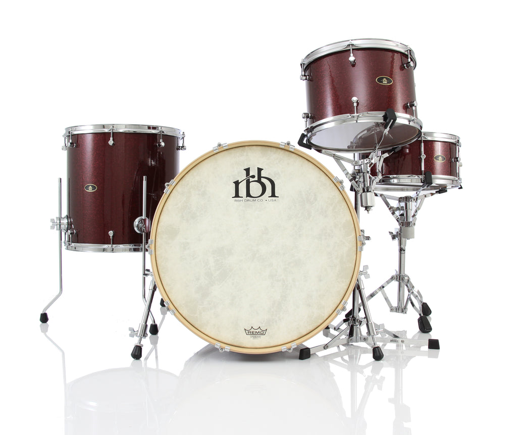 "RBH Drums Westwood 22"" 4 Piece Drum Shell Pack - Merlot Sparkle"