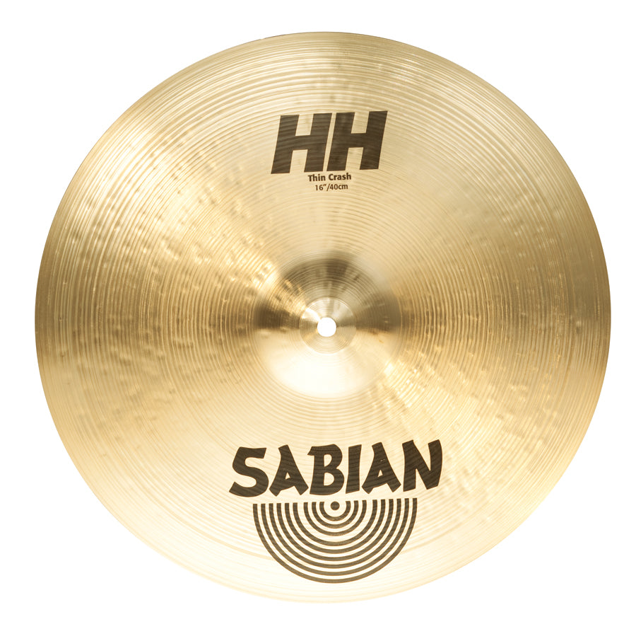 "Sabian 16"" HH Thin Crash Cymbal Brilliant Finish"