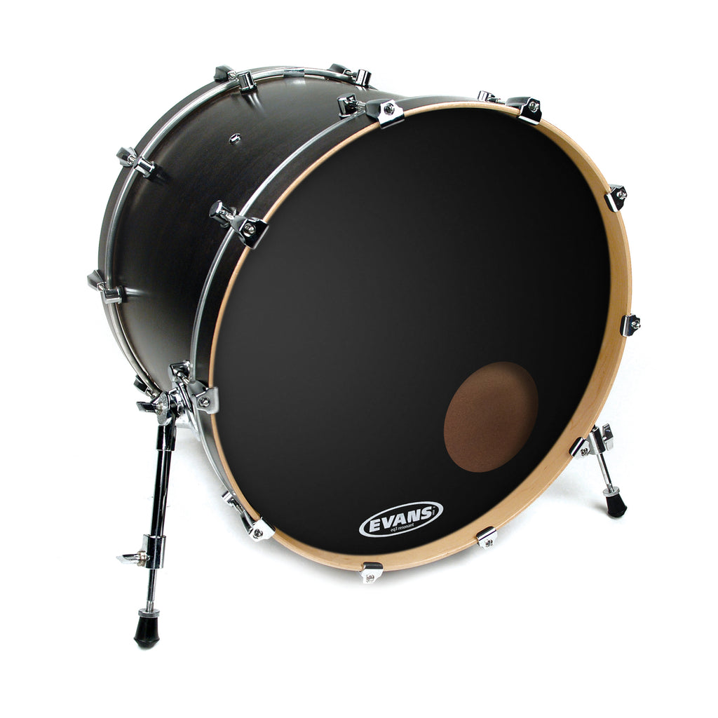 "Evans 20"" EQ3 Resonant Black Bass Drum Head"