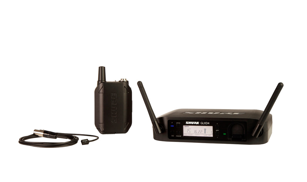 Shure GLXD14/93 Wireless Lavalier System W/ WL93 Omnidirectional Microphone