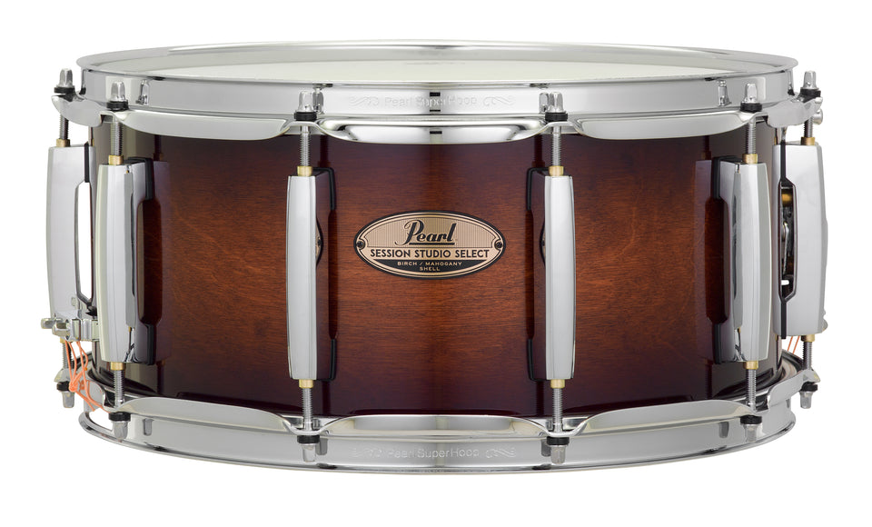 "Pearl 14"" x 6.5"" Session Studio Select Snare Drum - Gloss Barnwood Brown"