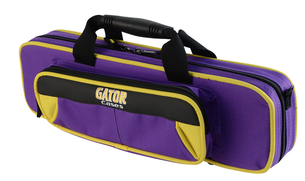 Gator GL-FLUTE-YP Spirit Series Lightweight Flute Case, Yellow And Purple