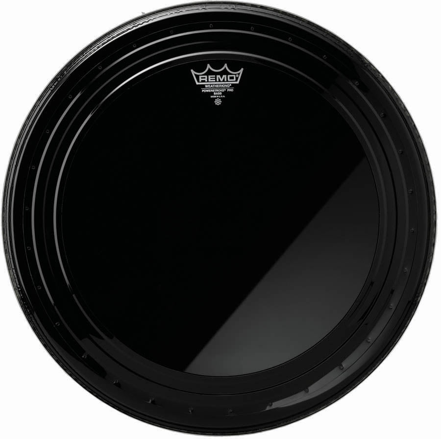 "Remo 22"" Powerstroke Pro Ebony Bass Drum Head"