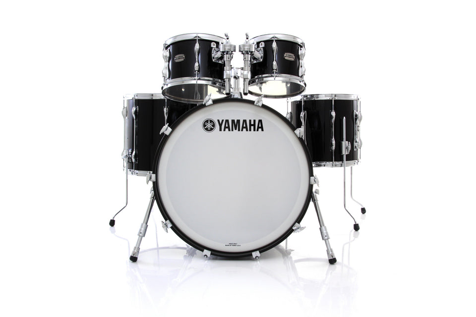 Yamaha Recording Custom 5 Piece Drum Set Shell Pack - Solid Black