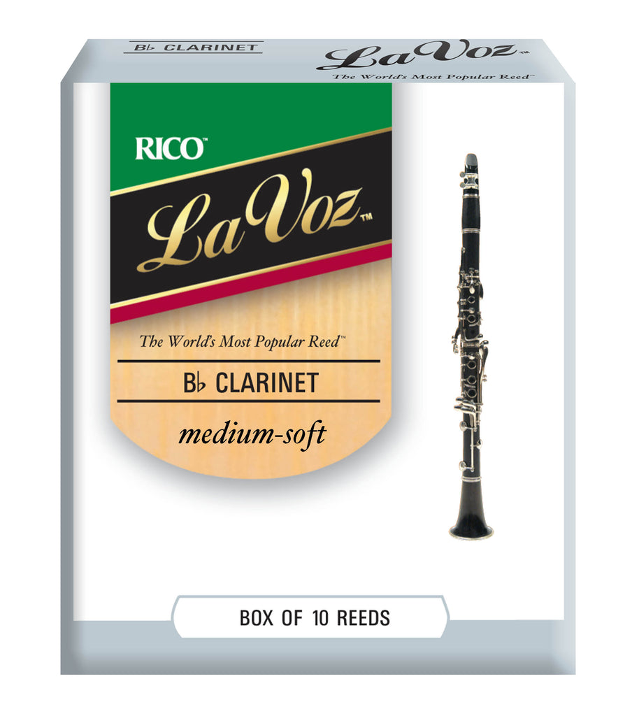 La Voz RCC10MS B-flat Clarinet Reeds - Medium Soft, box of 10