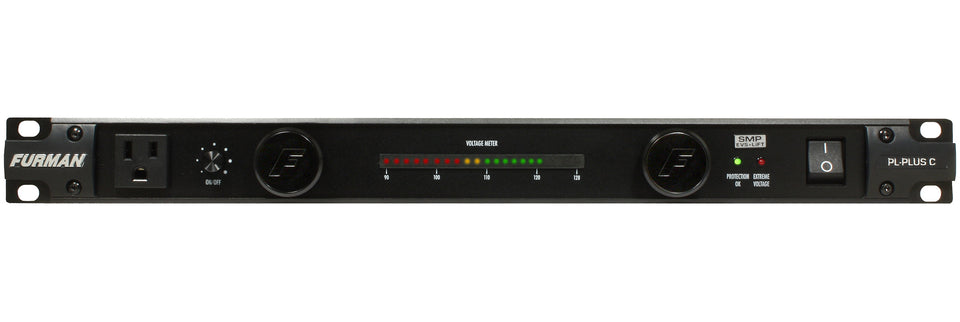 Furman PL-PLUSC 15A Power Conditioner W/ Lights, Voltmeter