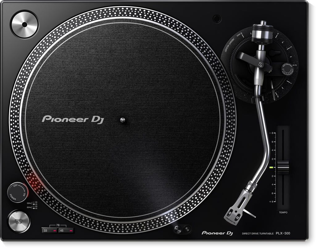 Pioneer PLX-500-K High-Torque, Direct Drive Turntable - Black