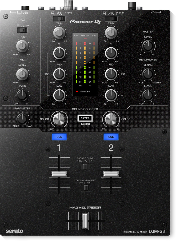 Pioneer DJM-S3 2 Channel DJ Mixer For Serato