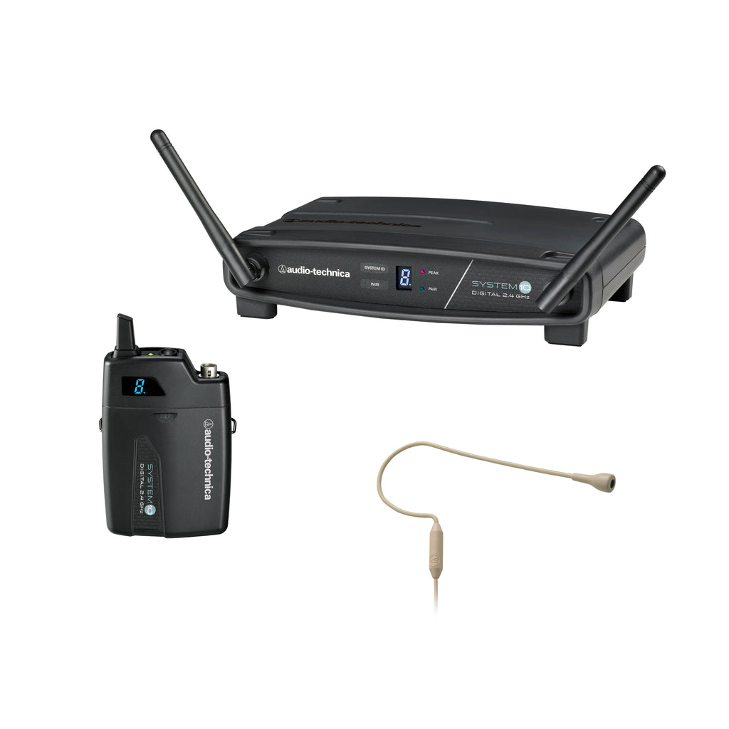 Audio-Technica ATW-1101/H92-TH Digital Earset Wireless System W/ Omnidirectional Mic - 2.4 GHz