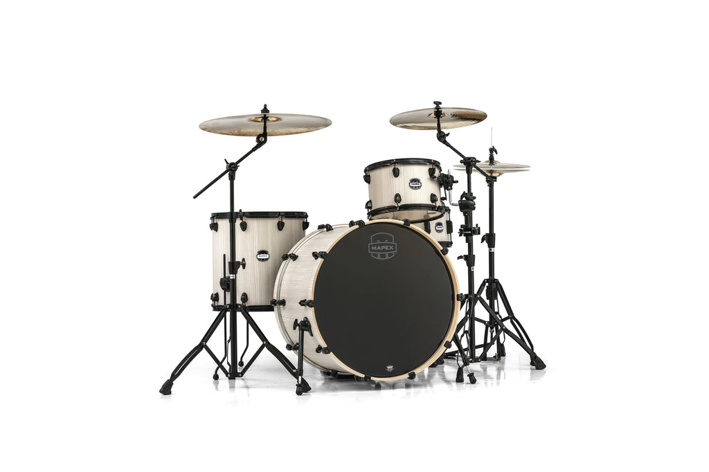 Mapex Mars Series 4-Piece Rock 24 Shell Pack Bonewood With Black Hardware