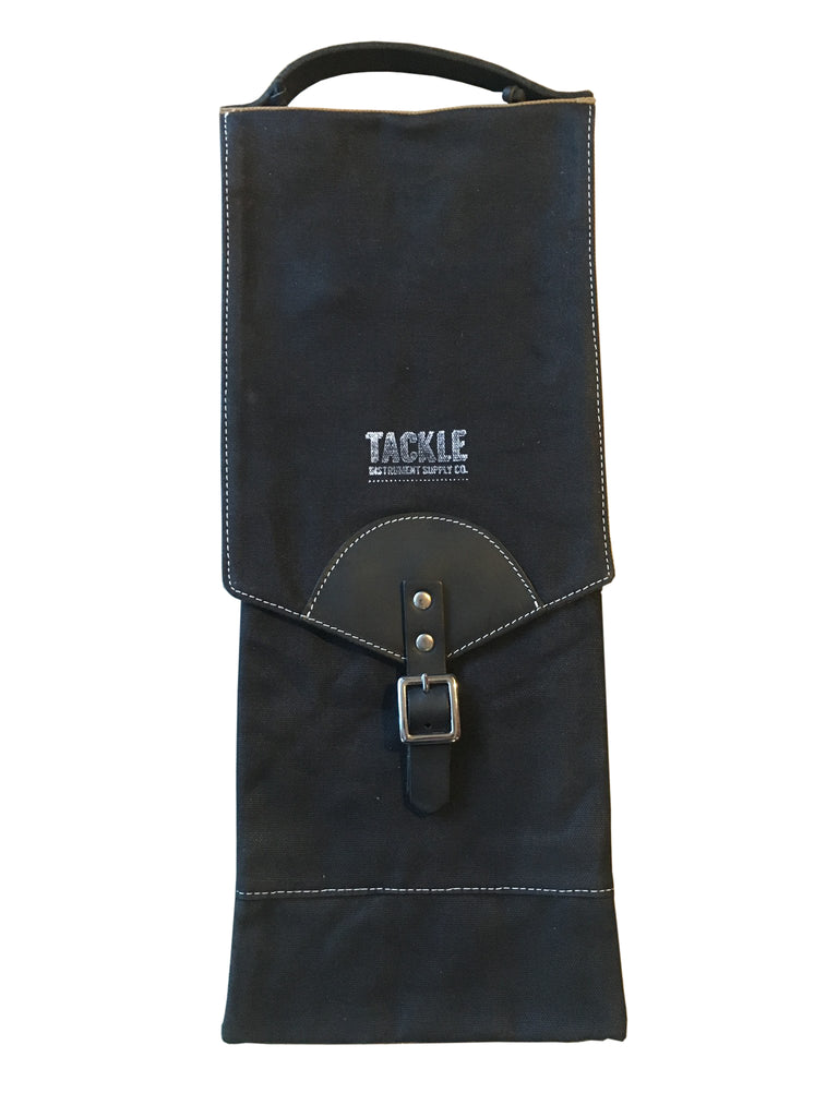 Tackle Instrument Supply CSB-BK Waxed Canvas Compact Drum Stick Bag