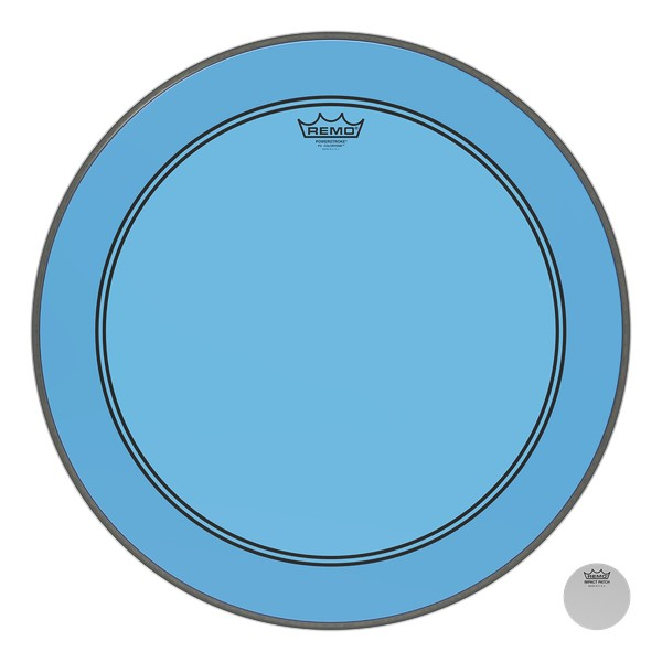 Remo Powerstroke P3 Colortone Bass Drumhead - Blue