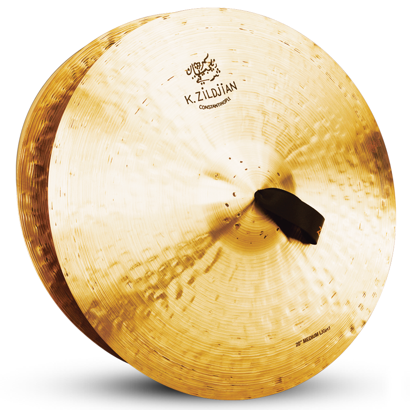 "Zildjian 20"" K CONSTANTINOPLE ORCHESTRAL Medium-Light Cymbals, Pair"