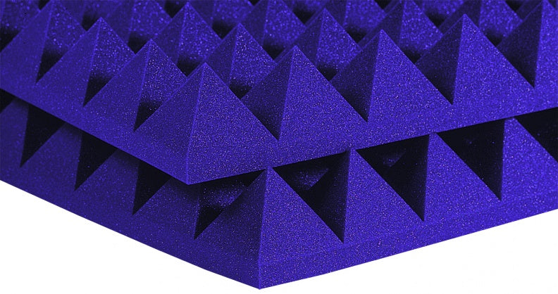 "AURALEX ACOUSTICS 2PYR22PUR-HP Studiofoam Pyramids- Purple (Set Of 12) - 2"" x 24"" x 24"""