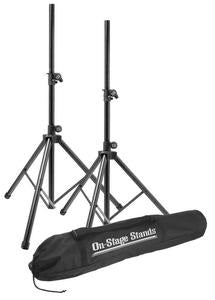 On-Stage Stands SSP7900 All-Aluminum Speaker Stand Pack w/ Carry Bag