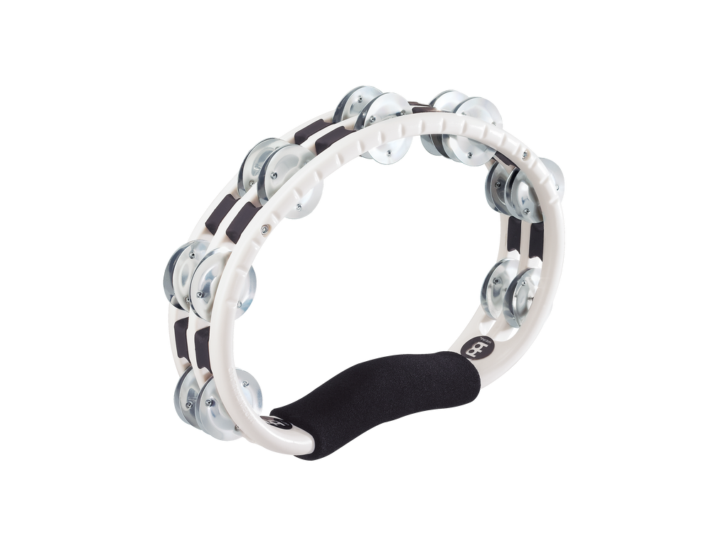 Meinl TMT1A-WH Hand Held Traditional Tambourine Aluminum Jingles 2 Rows