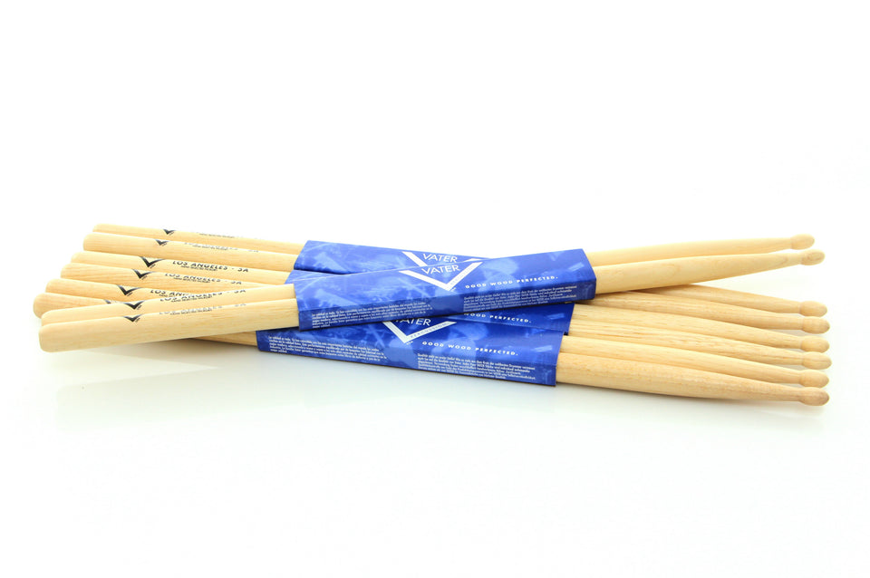 VATER Los Angeles 5A Wood Tip 3 Pair Pack With 1 Free Pair 5A